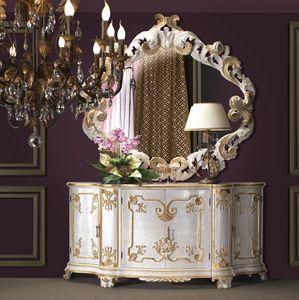 Art. 0194, Luxuriöser Schrank mit goldfarbenen Dekorationen