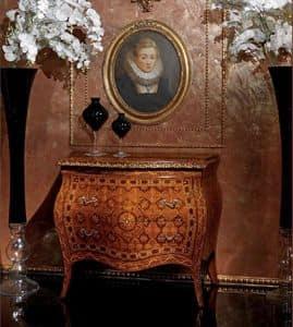 Art. 400, Klassischen Stil Sideboard mit 2 Schubladen, dekoriert Holz