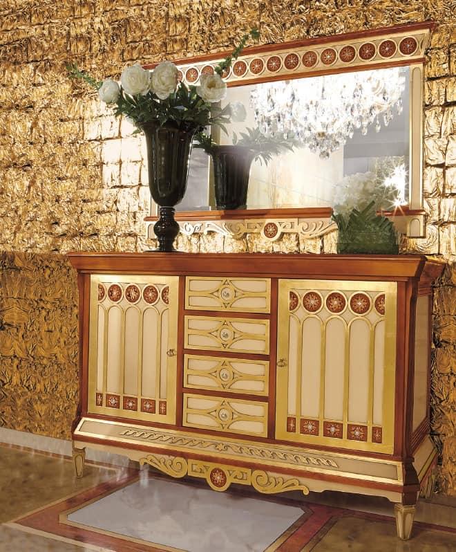 Klassische m bel f r wohnzimmer einlegearbeiten aus holz 2 t ren 4 schubladen idfdesign - Klassische wohnzimmer ...