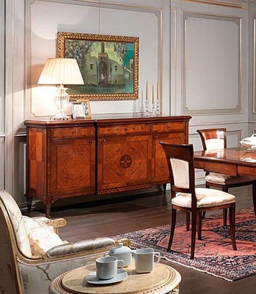 epochenstil sideboard in nussbaum f r esszimmer idfdesign. Black Bedroom Furniture Sets. Home Design Ideas