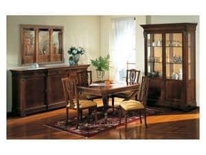 Art. 962 sideboard Carlo X, Epochenstil Sideboard, Intarsien, für Wohnzimmer