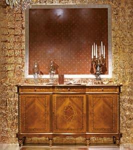 Art. 979, Sideboard mit 3 Schubladen und 3 Türen, eingelegt, klassischen Luxus