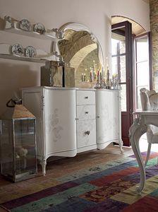Carpi Schrank, Klassischer Schrank mit handgefertigten Dekorationen