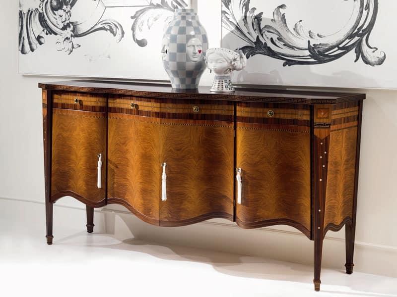 luxus wohnzimmer schränke: Türer mit Intarsien Sideboard, im klassischen Stil, für Wohnzimmer