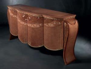 CR48 Vanity, Sideboard im klassischen Stil, in Nussbaum, für Salotti