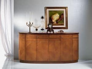 CR491 Neoclassica, Hölzerne ovalen Sideboard, klassischen Luxus-Stil