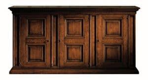Fosciandora ME.0448, Nussbaum schrank mit 3 Türen, eingelegt, klassisch