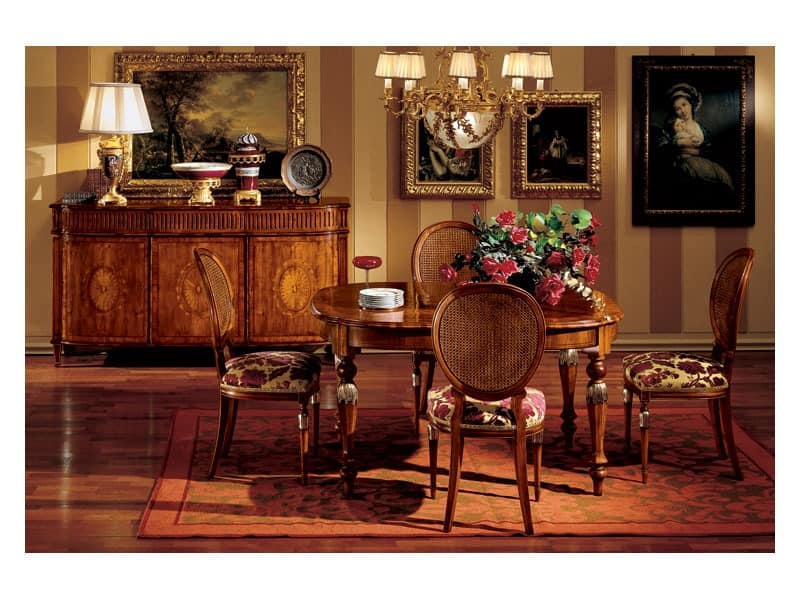 klassische sideboard f r esszimmer idfdesign. Black Bedroom Furniture Sets. Home Design Ideas