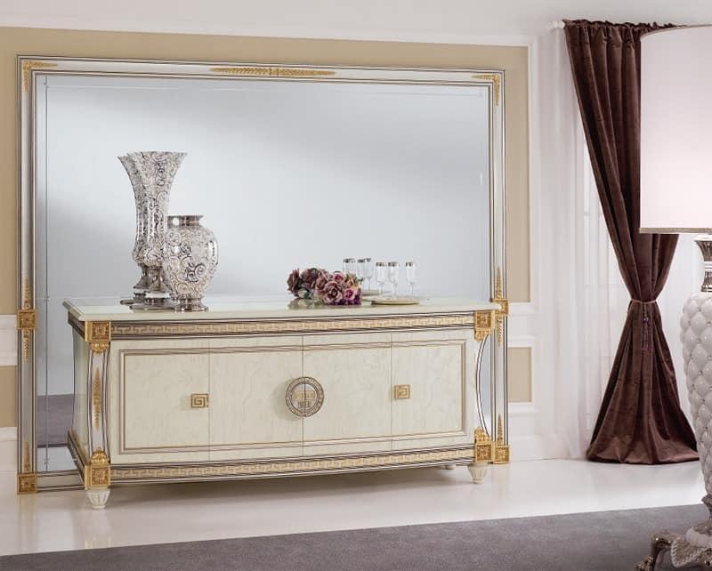 luxus wohnzimmer schränke: die Dekoration Luxus- Wohnzimmer, mit Details in Blattgold