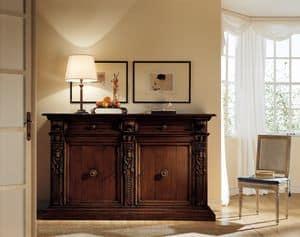 MEMORY Art. 420 / Schrank, Schrank mit 2 Türen und 2 Schubladen, toskanischem Stil in '500