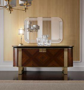 Oliver Art. OL03, Elegantes Sideboard mit elliptischem Profil