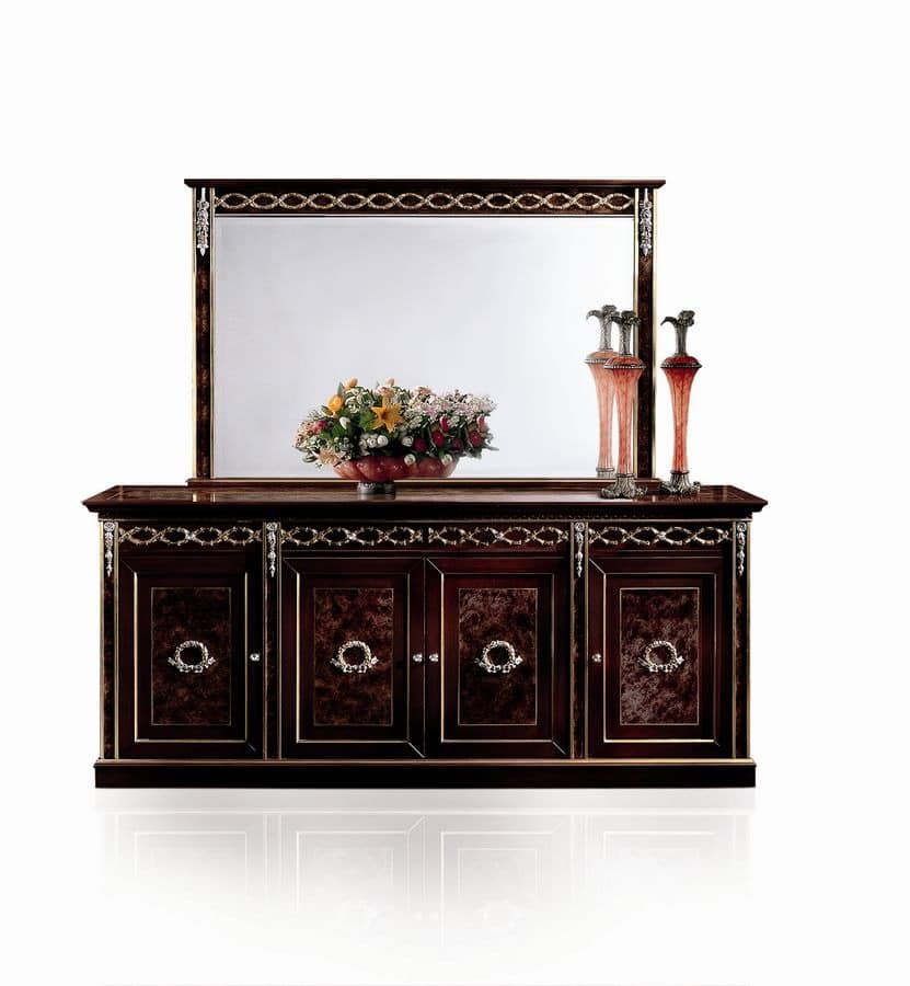 klassische sideboard f r wohnzimmer idfdesign. Black Bedroom Furniture Sets. Home Design Ideas