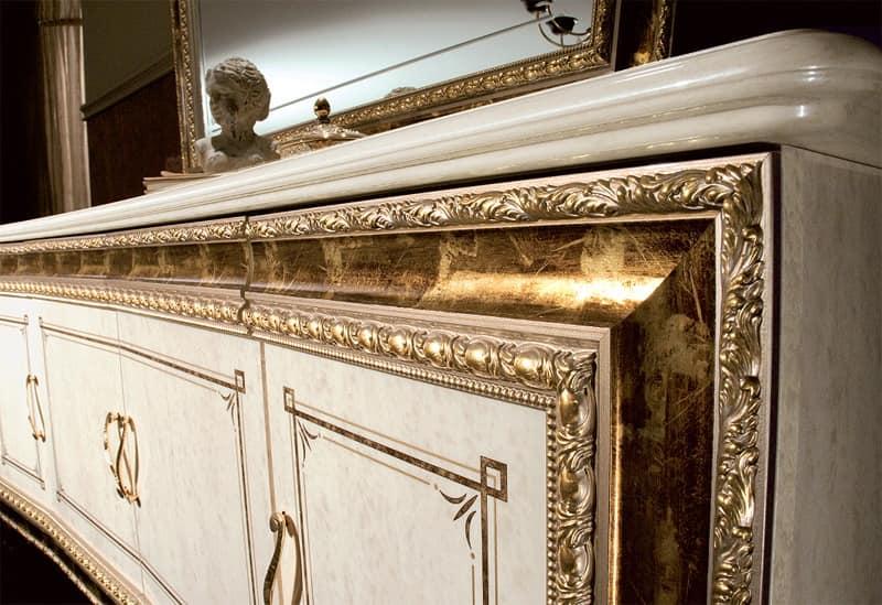 luxus wohnzimmer schränke:Sideboard Kommode Anrichte Vitrine Kiefer Massiv Modern Weiß Pictures