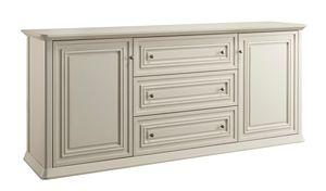 Romantica Sideboard 7516, Sideboard aus Holz mit 3 Schubladen