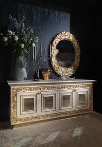 Summertime MB/124, Klassisches Sideboard mit Spiegel, im klassischen Stil