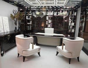 15F103, Klassischer Luxus Schreibtisch für elegante Büros