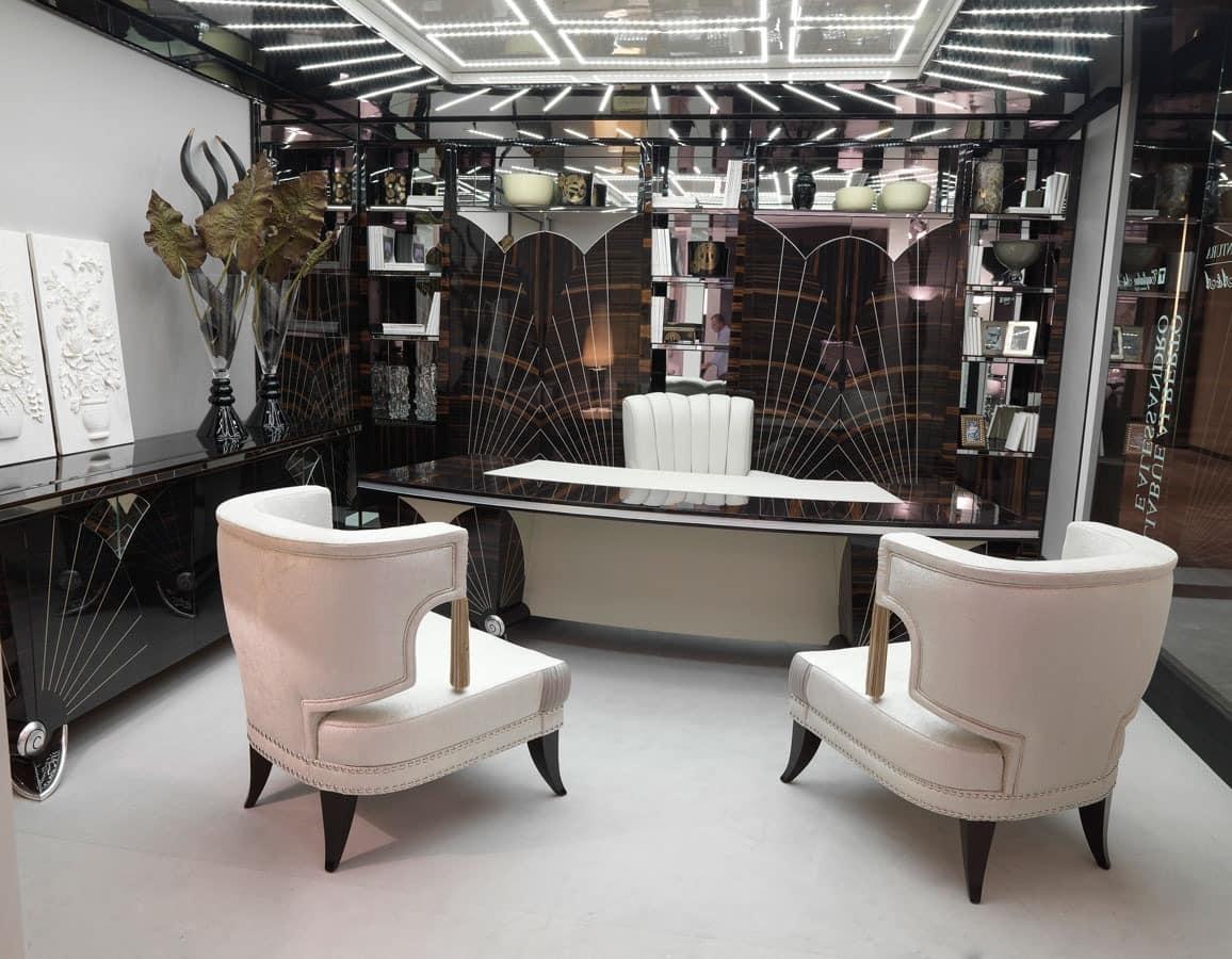 klassischer luxus schreibtisch f r elegante b ros idfdesign. Black Bedroom Furniture Sets. Home Design Ideas
