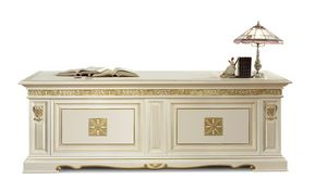 4057F, Luxuriöser Schreibtisch mit Lederauflage