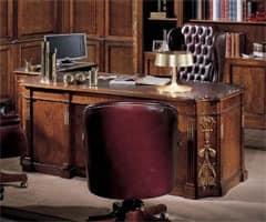 schreibtisch mit leder top klassischen luxus idfdesign. Black Bedroom Furniture Sets. Home Design Ideas