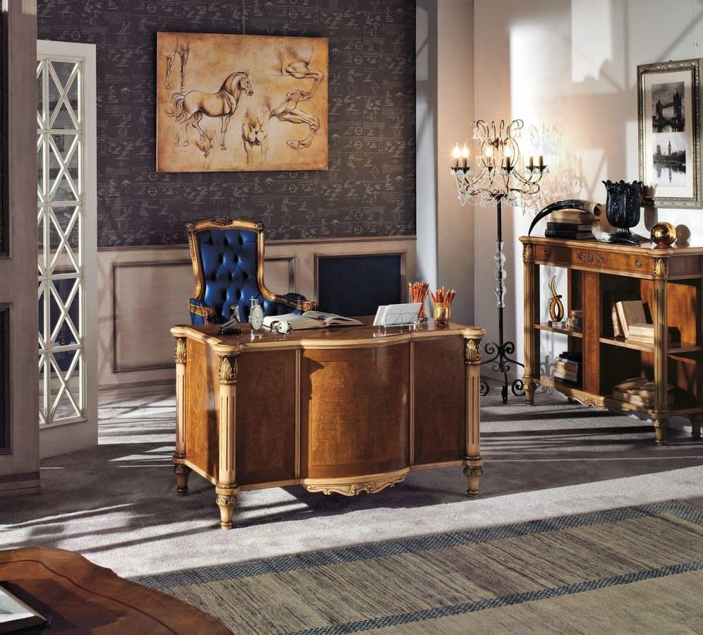 luxury klassischen schreibtisch aus holz f r haus idfdesign. Black Bedroom Furniture Sets. Home Design Ideas