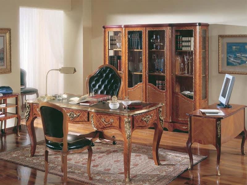 schreibtisch in palisander in klassischen luxus stil. Black Bedroom Furniture Sets. Home Design Ideas