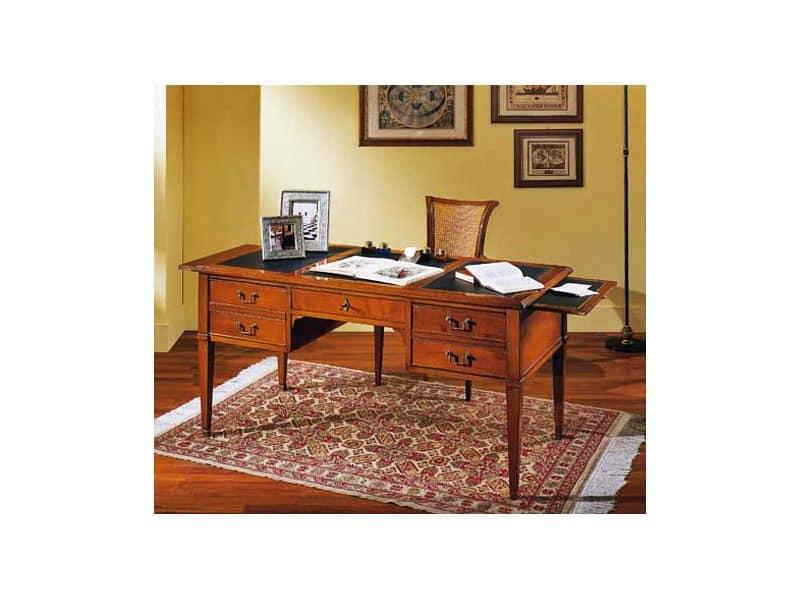 schreibtisch aus kirschholz f r haus und b ro idfdesign. Black Bedroom Furniture Sets. Home Design Ideas