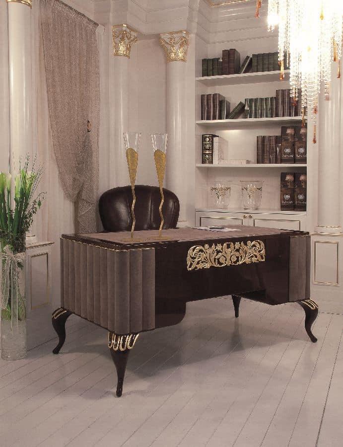 executive schreibtisch f r b ros luxus im klassischen. Black Bedroom Furniture Sets. Home Design Ideas