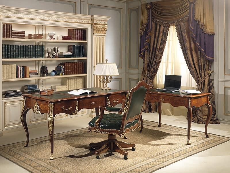 schreibtisch mit louis xv stylne nussbaum antiquit ten. Black Bedroom Furniture Sets. Home Design Ideas