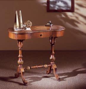 Art. 213, Schreibtisch in handgeschnitzte Holz, mit Schublade, klassischen Stil