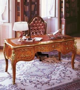 Art. 334, Schreibtische von Luxus, in Massivholz, von Hand dekoriert