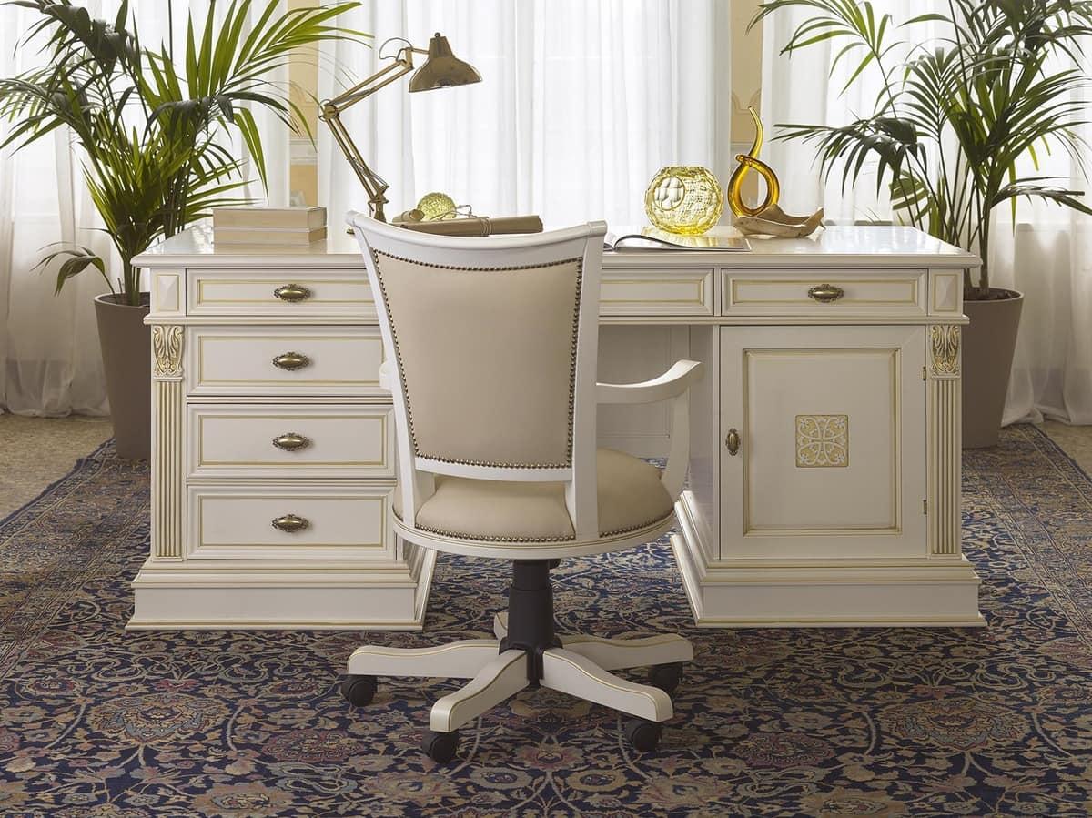klassischer luxus schreibtisch mit 4 schubladen f r das. Black Bedroom Furniture Sets. Home Design Ideas