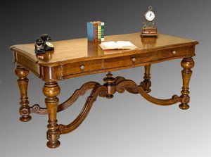 Art. 837 schreibtisch, Schreibtisch mit drei Schubladen, klassischer Stil