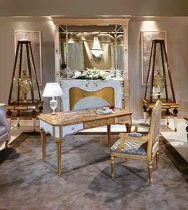 Art. 838, Luxuriöser Schreibtisch mit Perlmuttdekorationen