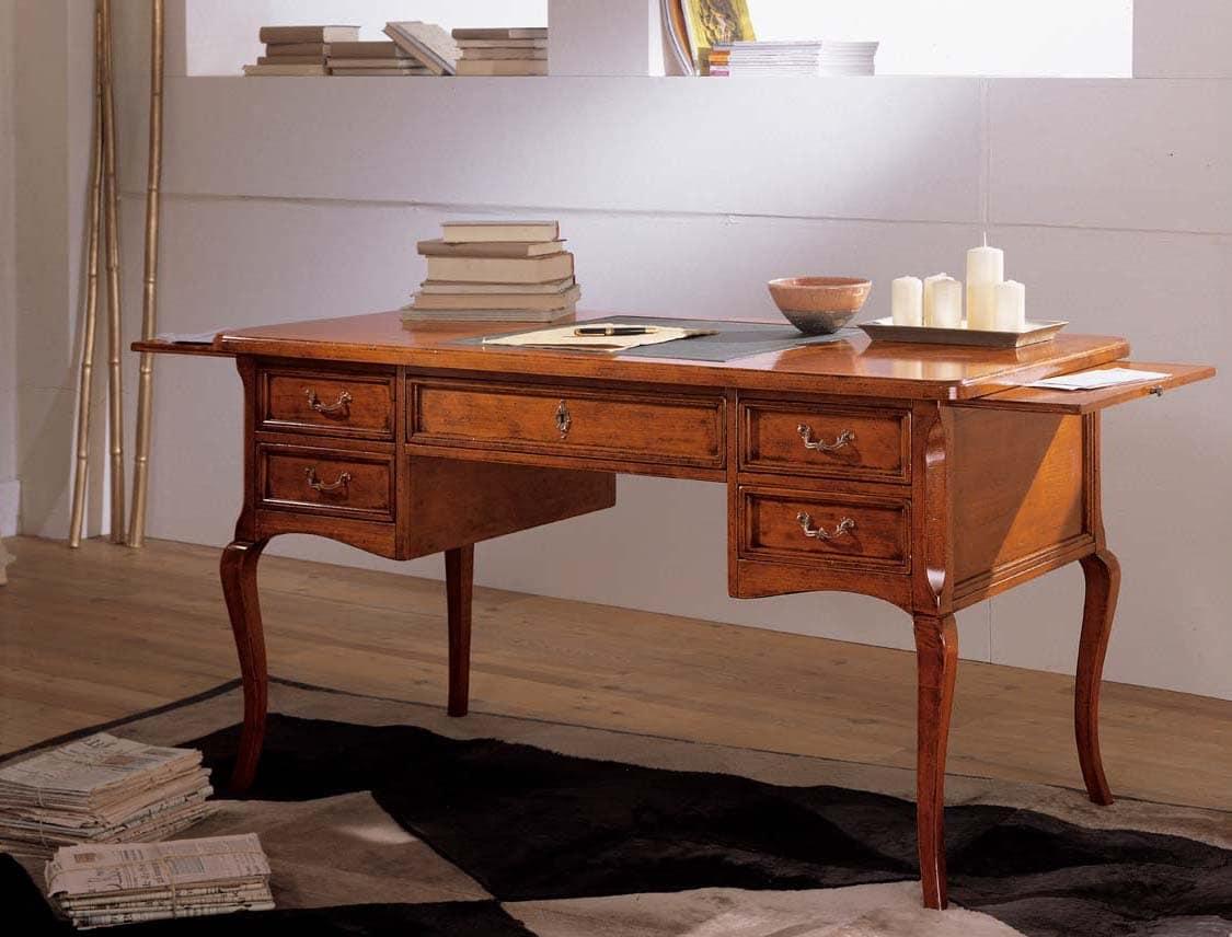 Schreibtisch Mit Seitlichen Verlangerungen Klassischen Luxus