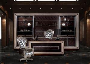 Decò Office, Schreibtisch für Büro -Manager, im klassischen Stil