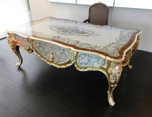 Elegance Schreibtisch, Luxuriöser Schreibtisch aus Perlmutt