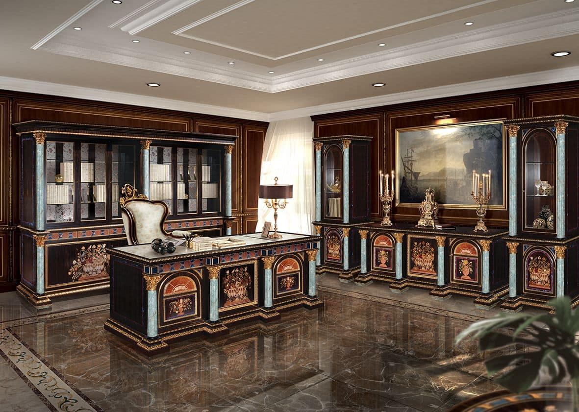 eingelegten schreibtisch nach klassischen luxus b ro. Black Bedroom Furniture Sets. Home Design Ideas