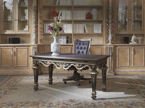 Lariana Schreibtisch, Schreibtisch mit Lederplatte