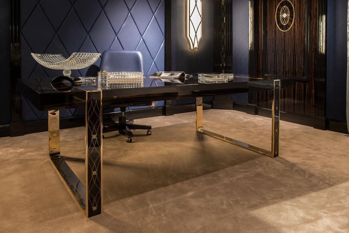 furnier schreibtisch f r klassiker b ros idfdesign. Black Bedroom Furniture Sets. Home Design Ideas