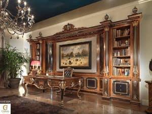 Odessa Büro, Intarsien Büro funriture, eingelegte Bücherregal für Büro