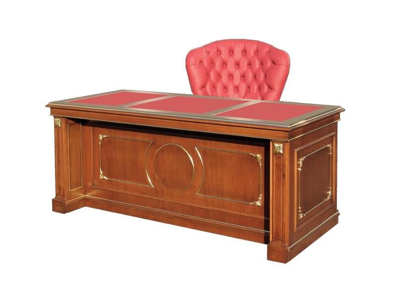 b ro schreibtisch aus holz klassischen stil idfdesign. Black Bedroom Furniture Sets. Home Design Ideas