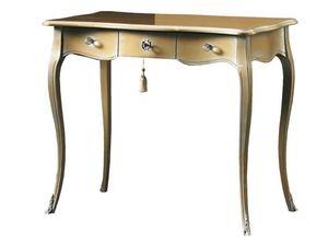 Tommaso FA.0049, Schreibtisch mit drei Schubladen, Stil Louis XV
