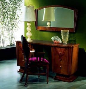 TS01 Fusion, Schreibtisch aus Massivholz, 6 Schubladen, Geheimfach gemacht