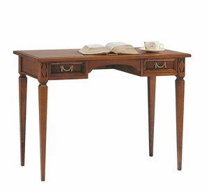 Villa Borghese Schreibtisch 6376, Schreibtisch aus Holz mit Schubladen im Directoire-Stil
