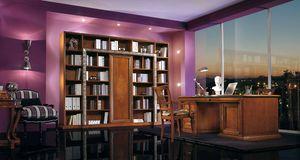 Vivre Lux Schreibtisch, Luxuriöser Chefschreibtisch mit Schnitzereien und Intarsien