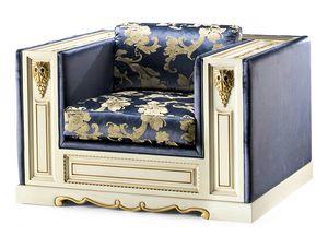 1467LQ, Halbgepolsterter Sessel im klassischen Stil