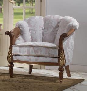 185, Luxus klassischer Sessel, abgerundete Form