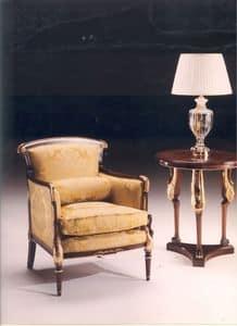 2985 SCHWAN SESSEL, Klassischen Stil Sessel, für Wohnzimmer