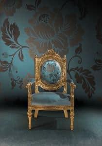 A/165 , Sessel mit der Waffe in klassischen Luxus stile