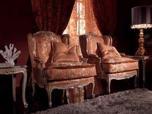 Anna Big Sessel, Sessel mit exquisiter Ausstattung, Holzrahmen